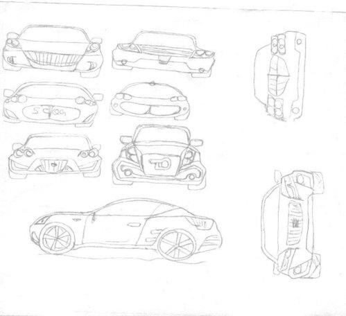 首届搜狐汽车设计大赛a18号:手绘作品