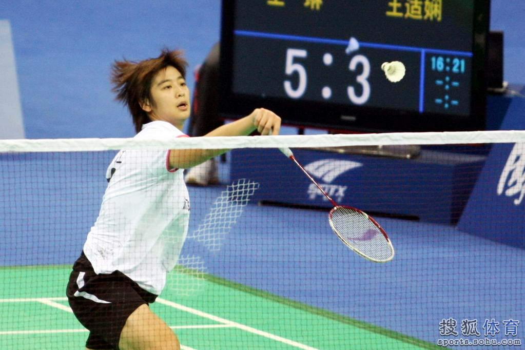 全运羽毛球女单王琳夺冠 高接低挡展英姿