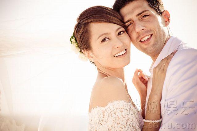 梁咏琪与西班牙籍丈夫sergio浪漫婚礼