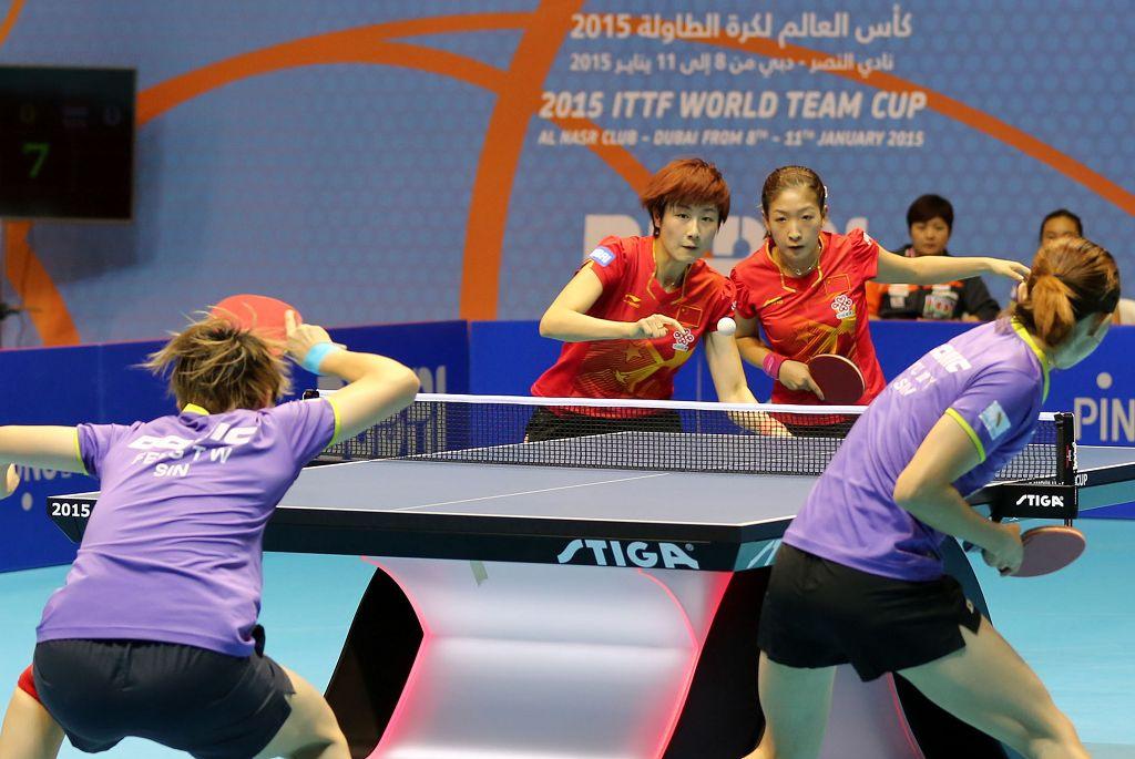 0日,2015乒乓球世界杯团体赛在迪拜结束了女团半决赛的较量.中