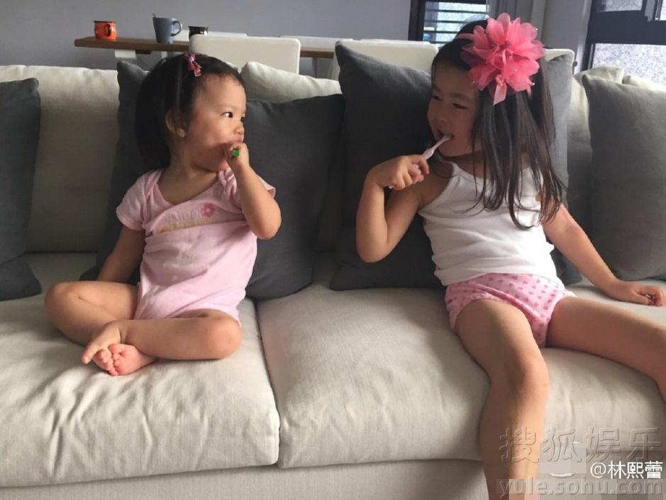 林熙蕾晒女儿近照 小公主长相激萌甜美可爱