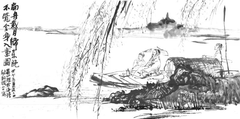 西湖水上 文人寻梦