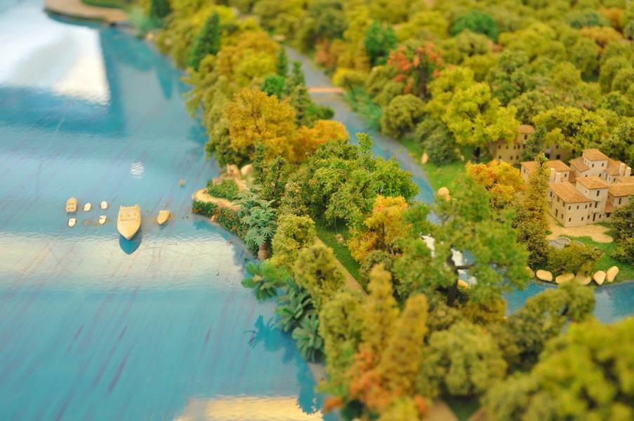 纳帕溪醍沙盘图 纳帕溪醍位于上海淀山湖4a旅游风景区