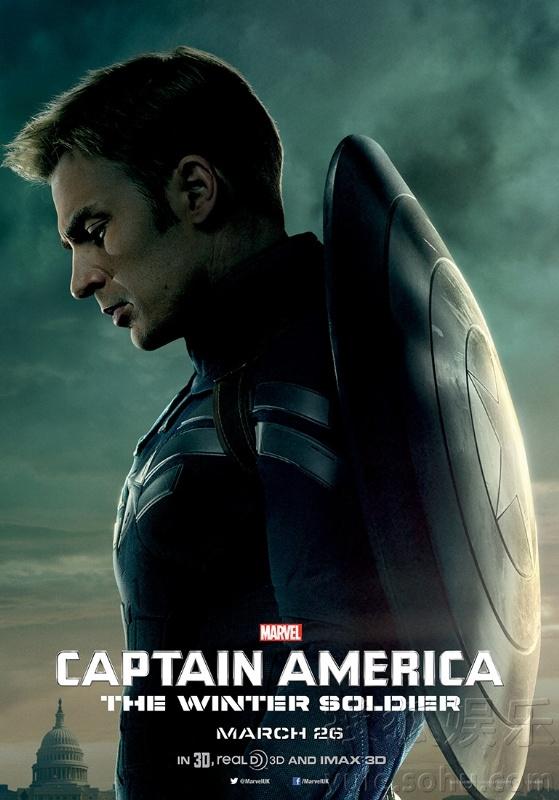 《美国队长2》曝角色海报