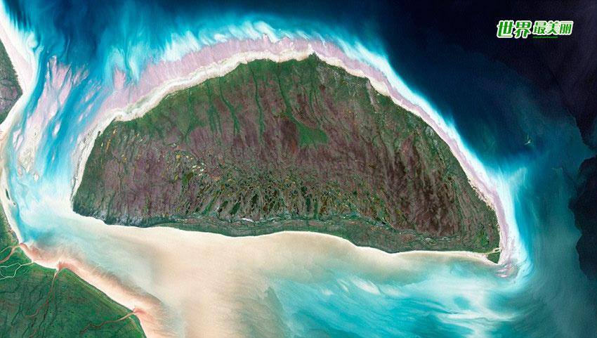 太空卫星俯拍各国岛屿惊艳照