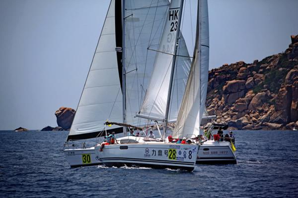 高清图:第三届司南杯大帆船赛 12晋级船队产生