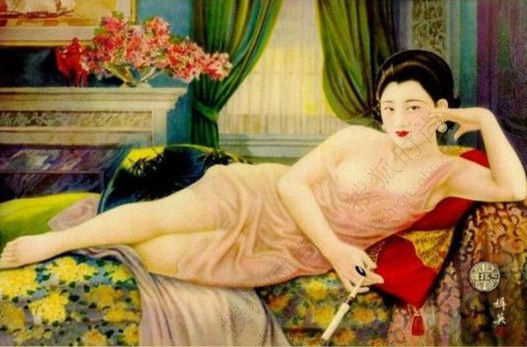 老上海时尚画报 裸而不俗的艺术6061014 搜狐时尚频道图片库 大视野