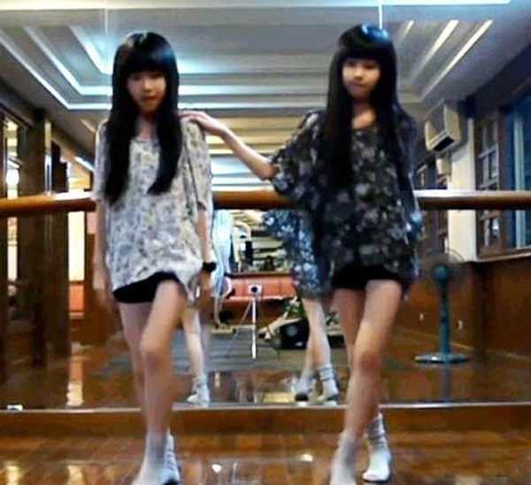 台湾人气双胞胎小美女sandy