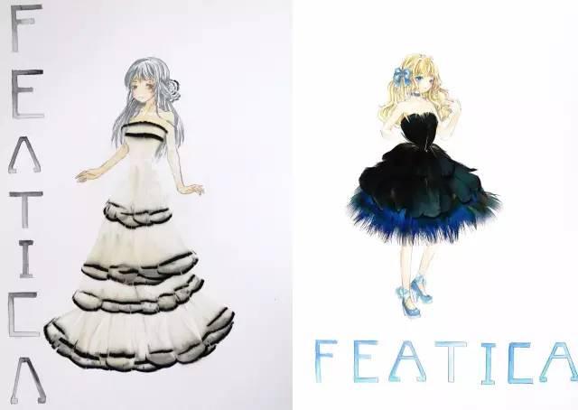 长裙设计图片铅笔手绘