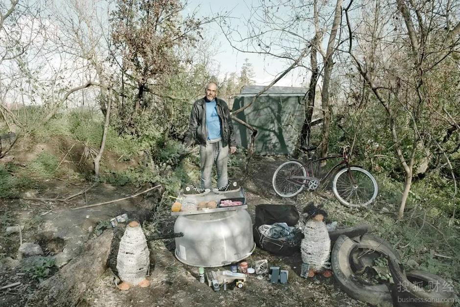 美国最底层无家可归者的家当