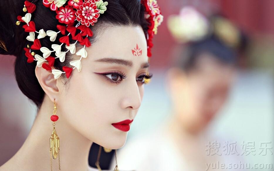 《武则天》剧照 范冰冰红唇唐装美丽性感 - 花雕美图苑 - 花雕美图苑
