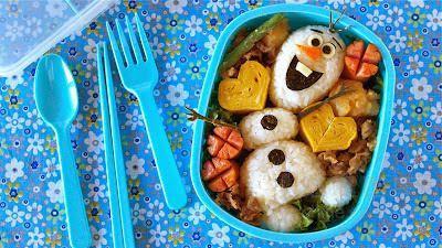 """迪斯尼卡通形象""""雪宝""""被制作成美味日本料理"""