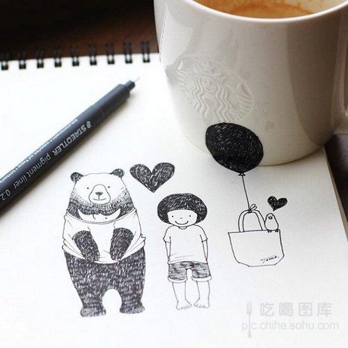 创意手绘:咖啡的奇幻世界