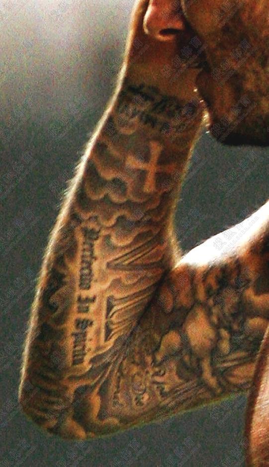 22张高清图解贝克汉姆22处纹身