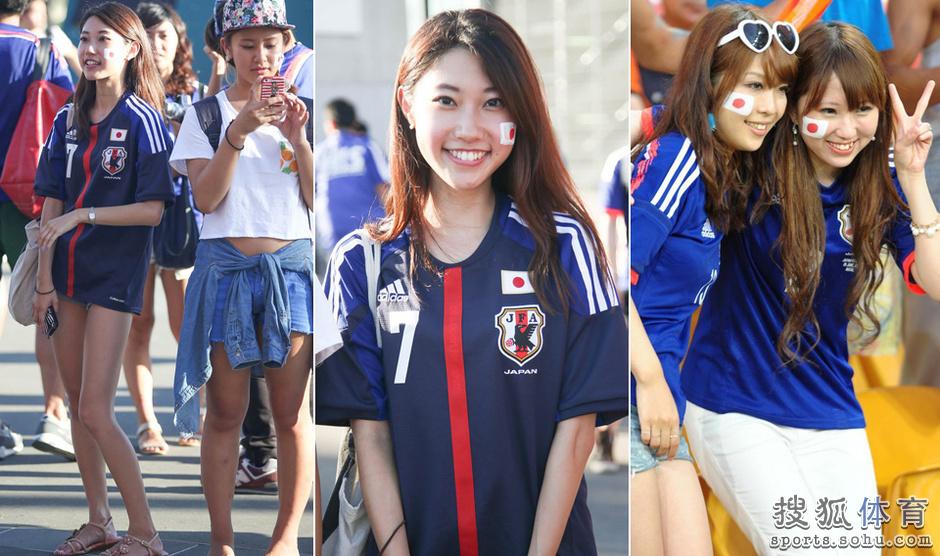 亚洲杯16日美女汇总:日本妹子清纯 长腿迷人眼