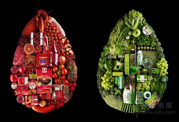 创意广告设计:让人垂涎欲滴的食物造型