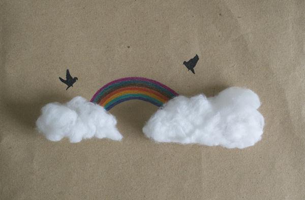幼儿创意美术作品图片棉花画