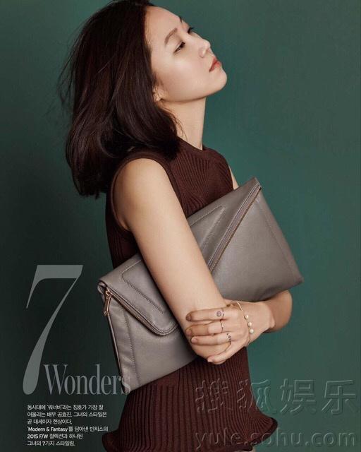 孔晓振为《W》杂志拍时尚大片 尽现女人味