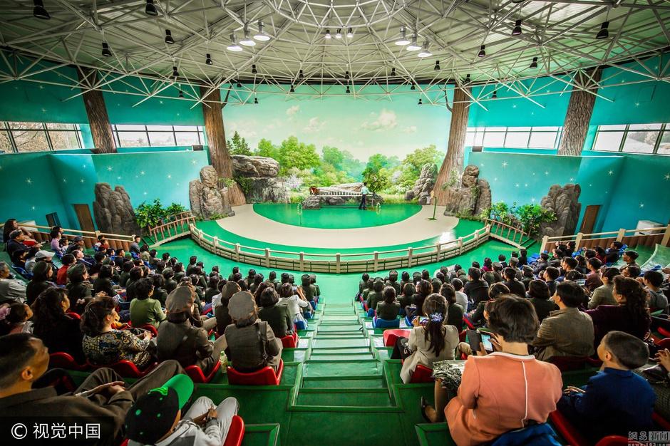 朝鲜上层娱乐方式:逛动物园看马戏表演