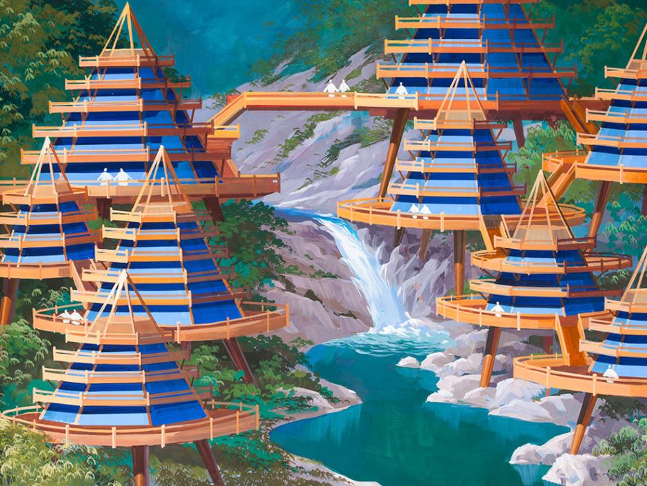 朝鲜展出未来建筑设计