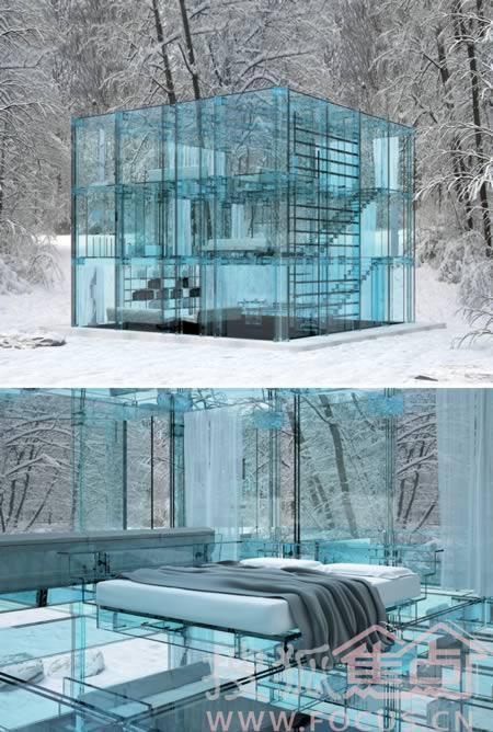 网格结构的房子被模块化,可以设计成几乎任何的配置.