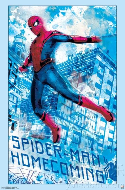 《蜘蛛侠:英雄归来》手绘海报   (来源:时光网)随着在《美国队长