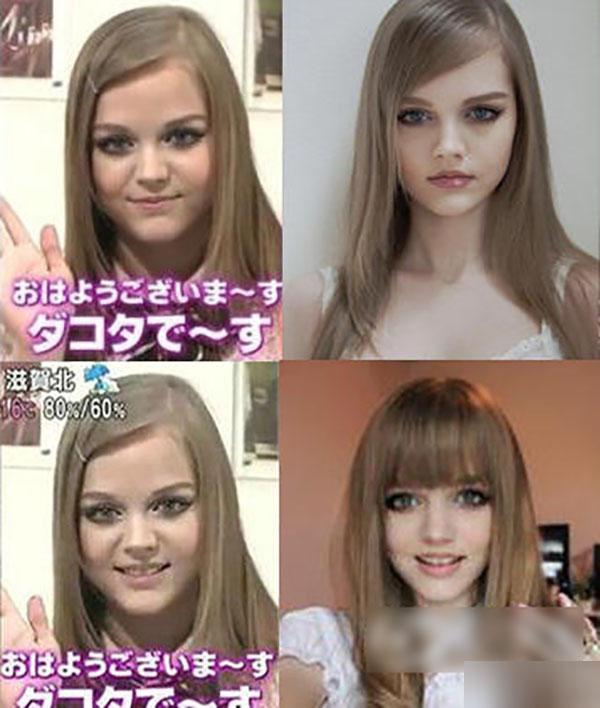 芭比娃娃造型的关键就是金发碧眼长睫毛,肤白貌美细腰丰臀.