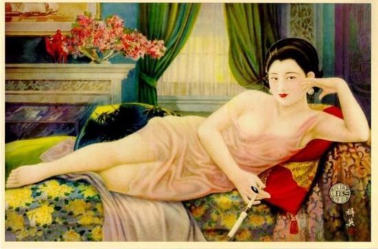 尺度惊人的老上海海报