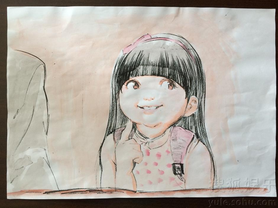 五年级荷花手绘图片