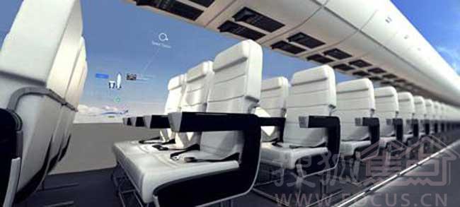 国外一家科技公司,计划与空客合作,研发透明飞机:让乘客坐在机舱内,享受360度全外景的感觉,如同翱翔在天际中。不管是美丽的夜景,还是空中自然天气的变化,都可以透过OLED全景一览无遗。如果你乐意,还能自己调节屏幕。飞机不再需要小窗子,唯一的问题就是,你敢不敢往上坐了。 更多精彩请进入 【搜狐焦点网】【图片新闻】