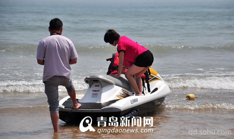 青岛第一海水浴场快艇
