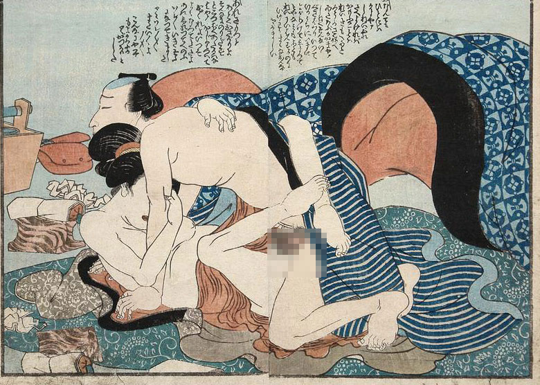 古代手绘男女相爱图片