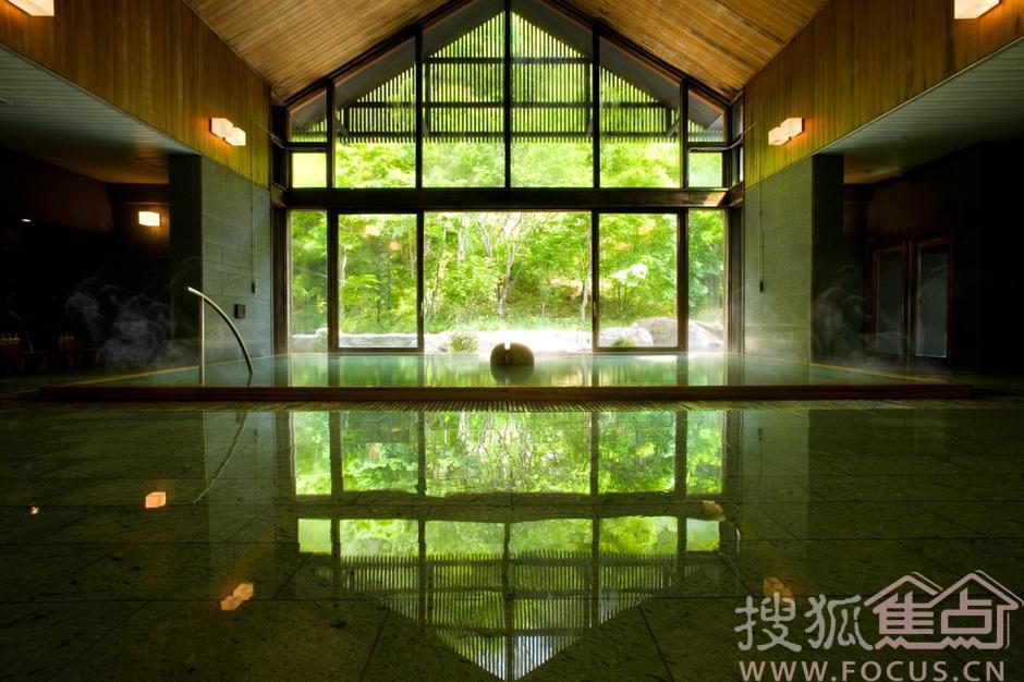 充满禅味的日式用途温泉v用途别墅农村别墅盖图片