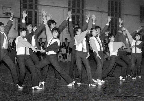 80年代校园交际舞老照片