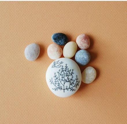 手绘 美的/超美的手绘石头 温润平静的心灵享受(1/11)