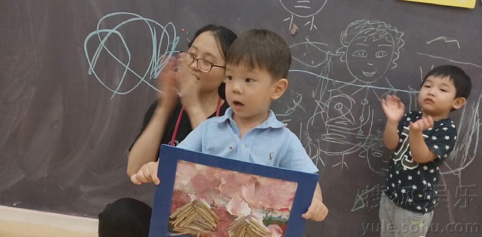 霍思燕晒嗯哼抽象画作品 网友点赞 大王不得了