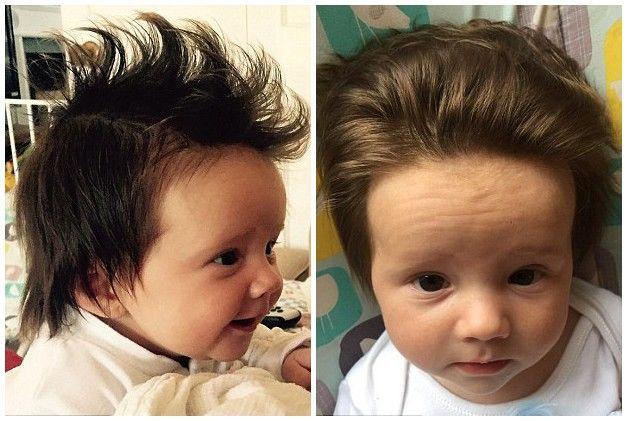 国外父母追逐潮流晒宝宝个性发型