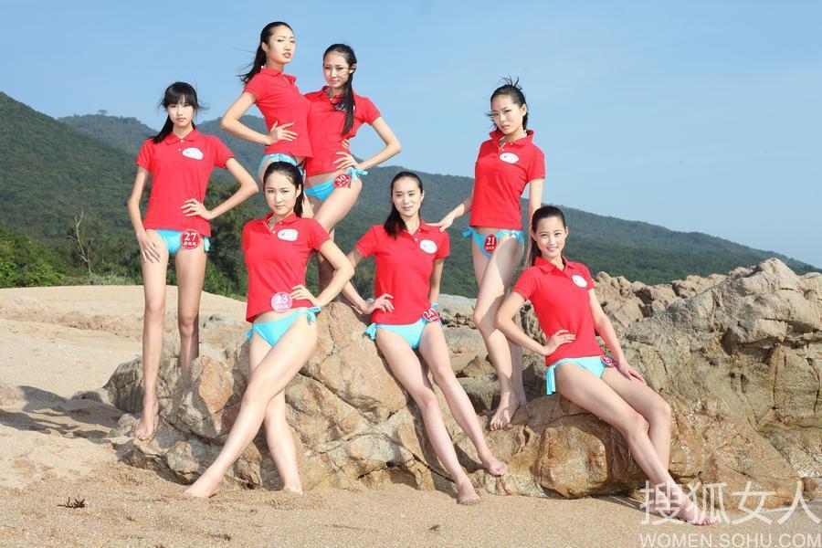 【转载】 2012新丝路模特大赛外景泳装照