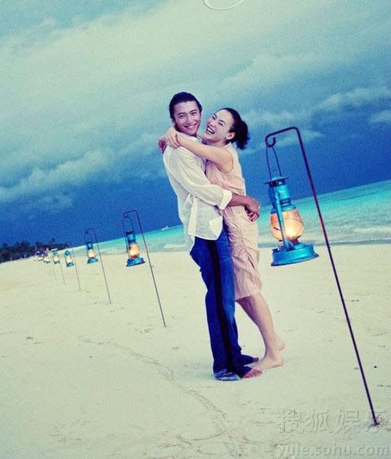 盘点明星海岛婚礼 蓝天碧水见证爱情