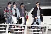 搜狐韩娱讯 4月23日下午,韩国男团SHINee、女团T-ara、Davichi为参加在台湾Taip...