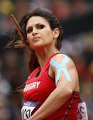 2012年8月7日,女子标枪预赛开始,巴拉圭美女弗朗哥出战。更多奥运视频>> 更多奥运图片>>