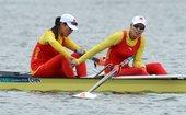 北京时间2012年8月1日,伦敦奥运会女子赛艇双人单桨决赛,张亚歌/高玉兰中国组合张亚歌/高玉兰以7...