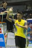 2015年日本羽毛球公开赛男单首轮,奥运冠军林丹挽救5个赛点,2-1(17-21、25-23、21-...