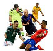 北京时间6月14日,今天一共有三场小组赛,分别是墨西哥1-0喀麦隆 西班牙1-5荷兰 智利4-1澳大...