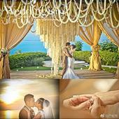 3月22日,严屹宽在微博上晒出了三年前在巴厘岛举办婚礼的照片,庆祝与杜若溪结婚三周年,婚礼画面相当唯...