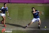 北京时间2012年8月3日,2012年伦敦奥运会网球混双1/8决赛,穆雷/罗布森2:1胜赫拉德卡/斯...