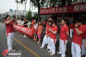 2012年7月24日,中国举重队出征伦敦。