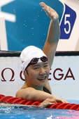 北京时间7月29日凌晨,2012年伦敦奥运会游泳比赛展开首日较量。女子400米个人混合泳,中国选手叶...