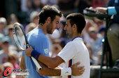 北京时间8月5日,2012年伦敦奥运会网球项目进入最后一个比赛日争夺。男单赛场,塞尔维亚天王德约科维...
