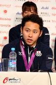 2012年8月6日,2012年伦敦奥运会,日本代表团发布会,部分运动员展示奖牌。  更多奥运视频>...